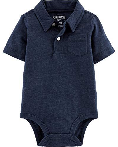 Osh Kosh Baby Boys Polo Bodysuit, Navy, 18 Months