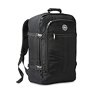 Cabin Max Backpack Flight Approved Carry On Bag Massive 44 litre Travel Hand Luggage 55x40x20 cm – Metz Black