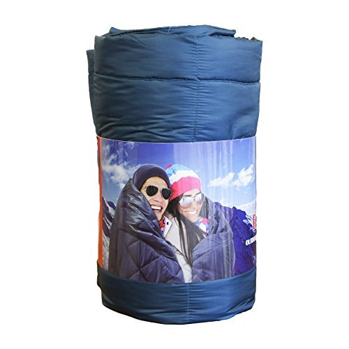 Black Diamond Double Packable Down Throw with Stuff Sack, 60'' x 70'' (Peacock)