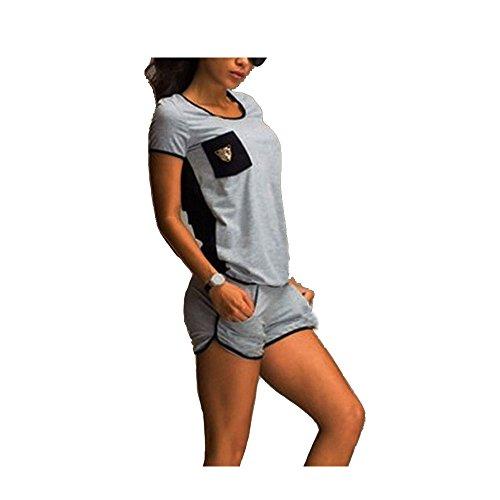 切断する周波数費やすCrop Top andショートレジャーバック中空アウトポケットShort Sleeved Active Wear