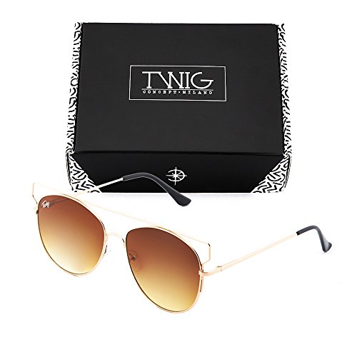 sol TZARA degradadas TWIG Gafas Bronce de mujer Marron Degradado espejo AwRW6SO