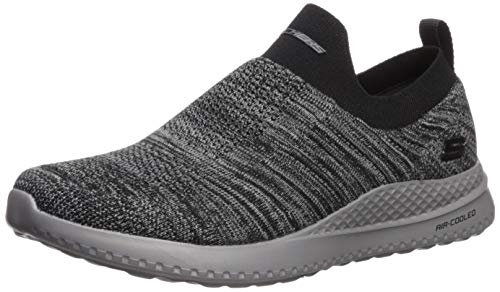 Skechers Men's Matera Graftel Loafer, Black/Gray, 14 2E US (Shoes Memory Foam)