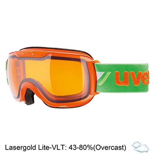 Uvex Downhill 2000 Race Masque de ski orange-green
