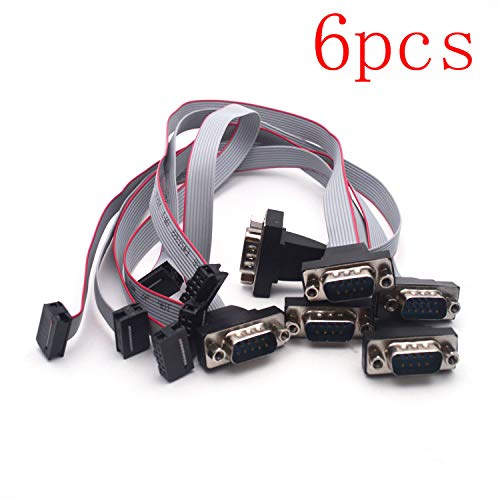 - Antrader 30cm 12 Inch DB9 9 Pin Serial Male to 10 Pin Motherboard Header Panel Mount RS232 Serial Adapter Cable Pack of 6