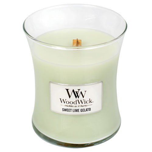 Ice Cream Scented Candle - SWEET LIME GELATO WoodWick 10oz Scented Jar Candle