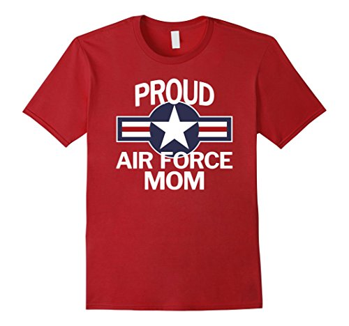 Mens Proud US Air Force Mom with Vintage Aircraft Roundel T-Shirt Small (Vintage Us Air)
