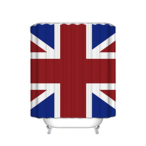England Britain British Flag Patriot English Queen Made By Digital Printer Modern Home Bathroom Decoration Ideas Decorating Art Polyester Fabric Shower Curtain (Christmas Decorating Ideas Office)