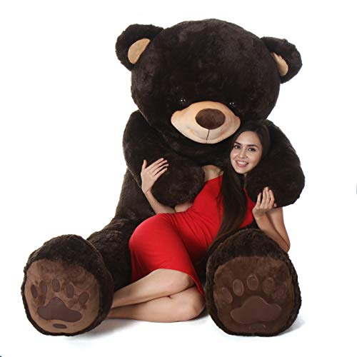 Giant Teddy Brand - Premium Quality Giant Stuffed Teddy Bear (Chocolate Brown, 7 Foot)]()