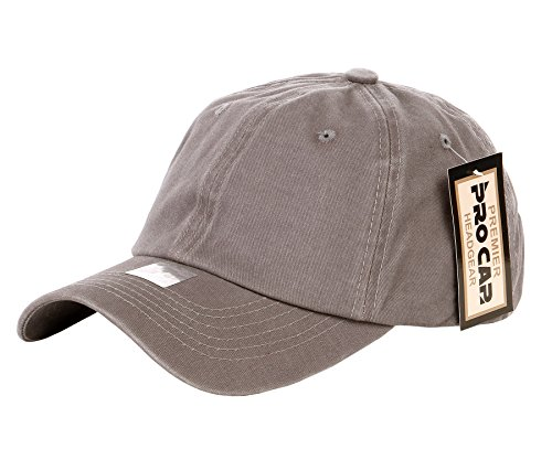 RufnTop 100% Cotton and Denim Washed Classic Dad Hat Plain Dyed Low Profile Baseball Cap(Washed2 Warm Stone)