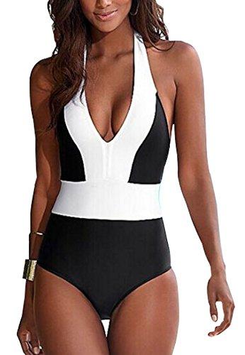 Womens Monokini Bathing Backless Swimsuit