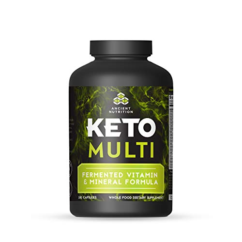 Ancient Nutrition KetoMULTI Vitamin and Mineral Supplement, 180 Capsules — Daily Multivitamin Designed for The Keto Diet ()
