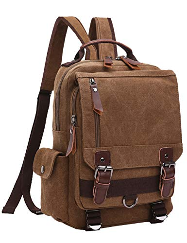 Mygreen Vintage Canvas Cross Body Messenger Backpack Rucksack for Men & Boys Casual Book Bag Sports Daypack]()