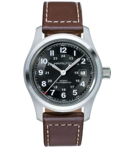 Khaki Hamilton (Hamilton Men's H70555533 Khaki Field Stainless Steel Automatic Watch with Brown Leather Band)