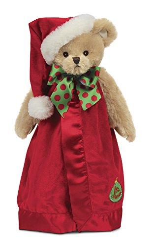 (Bearington Baby's 1st Christmas Santa Teddy Snuggler, Plush Security Blanket, Lovey 15