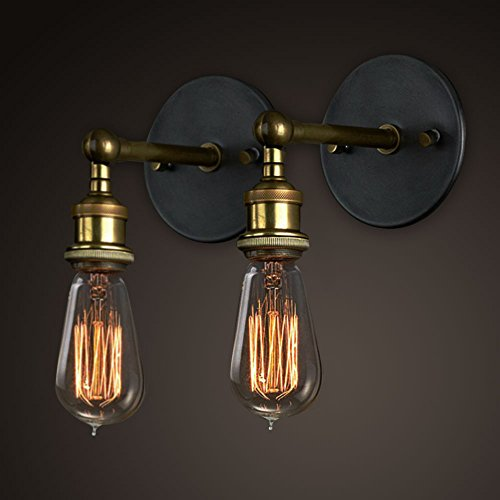 Vintage Wall Lights Copper Head, Adjustable Wall Sconce Lamp Retro Edison Brass Light Head with E27 Socket for House, Bar, Restaurants, Coffee Shop, Club Decoration (2 Packs , Bulbs not Included) - Copper Wall Lamp