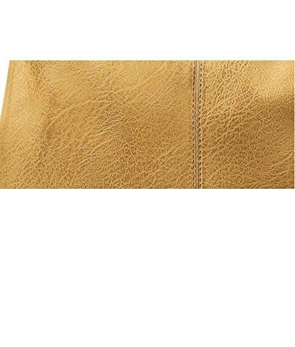 Emily&Noah Beuteltasche Mona Schultertasche Tasche Flechttasche Damen (gelb)