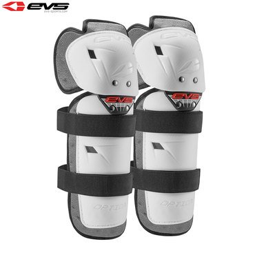 EVS Option Motorcycle Motorbike Reinforced Knee Guards Pair Youth White
