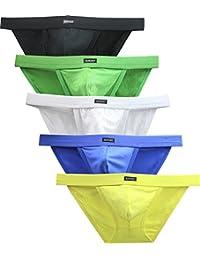 iKingsky Men's Modal Pouch Bikini High Leg Opening Briefs Sexy Lowrise Men Underwear