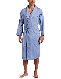 Men's Long Sleeve Lightweight Cotton Woven Robe