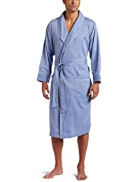 Nautica Mens Standard Men's Long Sleeve Lightweight Cotton Woven Robe