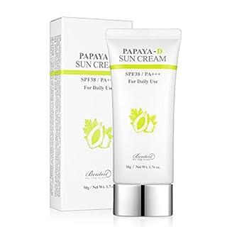 BENTON Papaya-D Sun Cream 50g (1.76 fl.oz.) - Papaya Vitamins Moisturizing & Skin Vitality UV Block Cream, No Harmful Ingredients, for Dry and Sensitive Skin