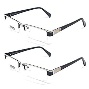 Qi Song Titanium Alloy Aspherical Reading Glasses +1.0 +1.5 +2.0 +2.5 +3.0 +3.5+4.0 (2PCS Valuepack, 1.0)