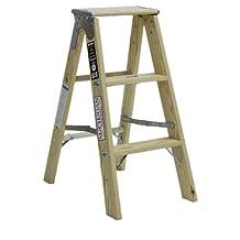 Michigan Ladder 1320-03 300-Pound Duty Rating Type 1A Tradesman Wood Stepladder, 3-Foot