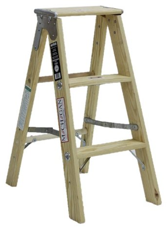 Michigan Ladder 1320-03 300 Pound Duty Rating Type 1A Tradesman Wood Stepladder, 3-Foot by Michigan Ladder