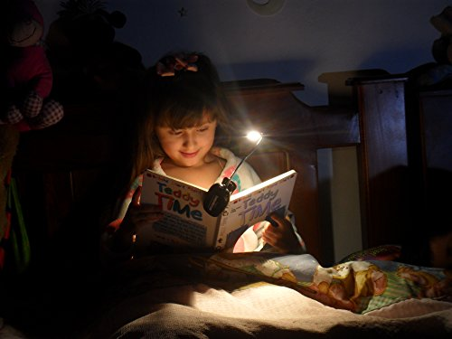 Eye Care Warm Book Light — 6 Brightness Levels, LED Clip-On Lamp for Reading in Bed, Dual Charger, 78in USB Cable & Travel Bag — Eco Friendly Rechargeable & Replaceable Battery - Best Father Day Gift by Ecologic Mart (Image #5)