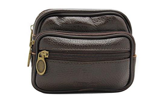 Genuine Leather Fanny Travel Bag Pouch (Dark