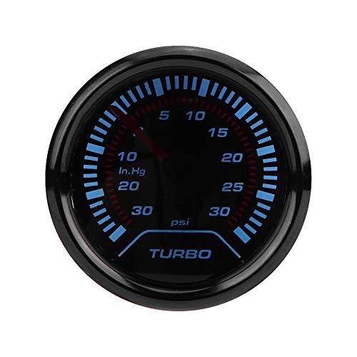 Turbo Boost Pressure Gauge, Universal 52mm Car Smoke Dial Face Turbo Boost Turbocharged Pressure Gauge: