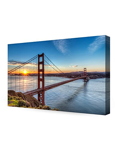 Gate Bridge (DECORARTS Golden Gate Bridge, San Francisco, Califonia. Giclee Canvas Prints for Wall Decor. 36x24x1.5)