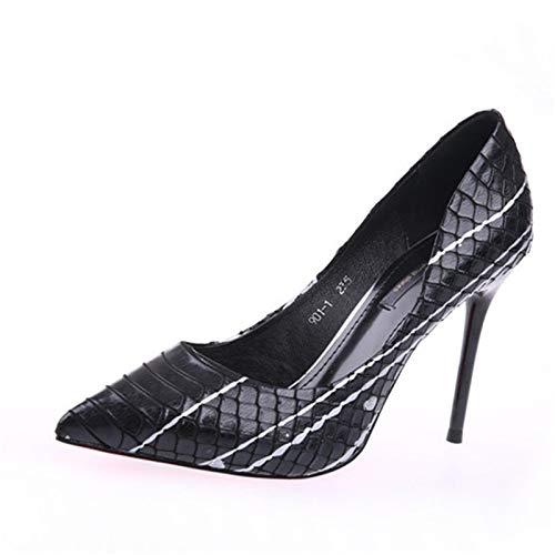 Zapatos Europea Zapatos Boca otoño Las Partido La señoras el YMFIE de Banquete la Aguja Sexy Baja Manera Temperamento los Primavera del del de Empareja Tacones Solo de Color A Que Acentuados y fwEBq