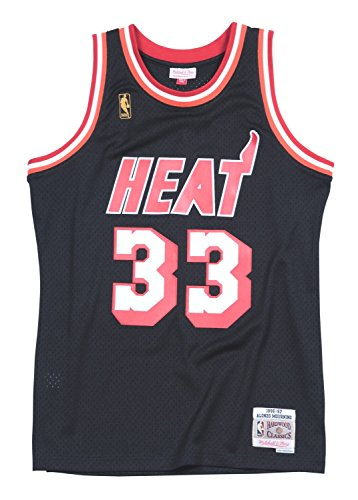 e48ea09933b9 Alonzo Mourning Miami Heat Mitchell   Ness NBA Swingman HWC Jersey - Black