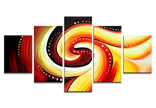 - Large Size 5 Panels Modern Giclee Canvas  Contemporary Abstract