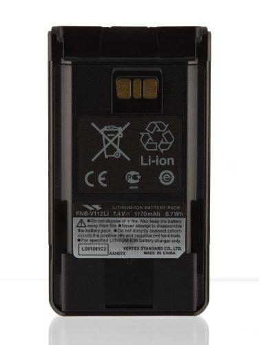 Vertex Fnb V112li 7 4 Volt 1140 Mah Lithium Ion Battery  Black