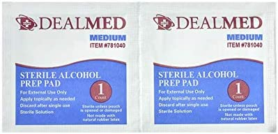 Dealmed Alcohol Prep Pads, Individually Wrapped, Latex-Free, Disposable Pads, 4000/Case 41YMAgeWYcL