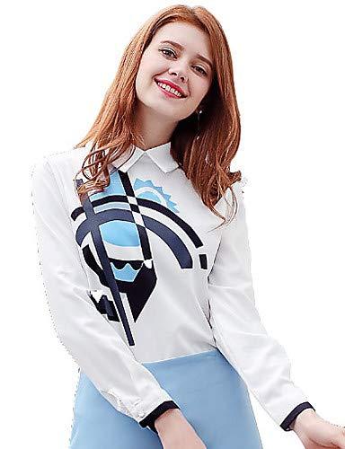 della White in da donna collo unita tinta camicia YFLTZ Camicia xaIqw1