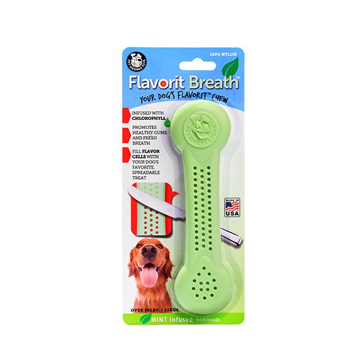 Pet Qwerks Flavorit -Breath/Mint Flavored Nylon Bone for Aggressive Chewers (Made in the (Bone A Mints Bones)