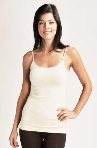 Ivory Cami Top (Seamless Nylon/Spandex Long Cami in Ivory - 0/S)