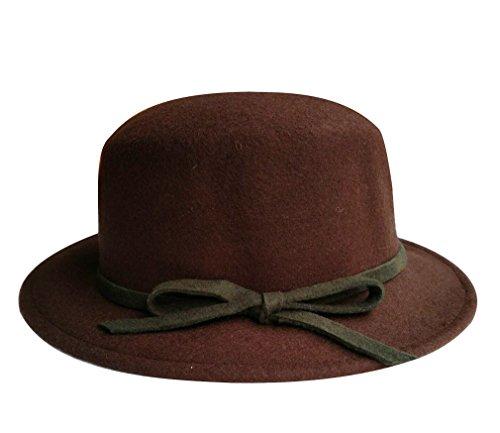 lana rosso Cappello papillon da viaggio taglia scuro Acvip Fedora donna con in unica da HRwqz