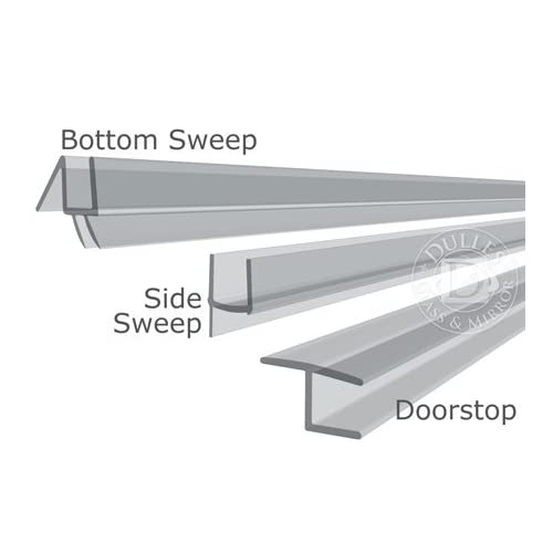 """durable service 98"""" Long, Plastic Sweep Kit for 1/2"""" Thick Glass Inline/90 Degree Door"""