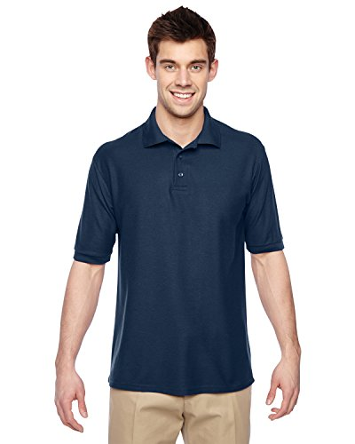 (Jerzees Mens Easy Care Welt Knit Collar Short Sleeve Pique Polo Shirt, JZ537MR,)