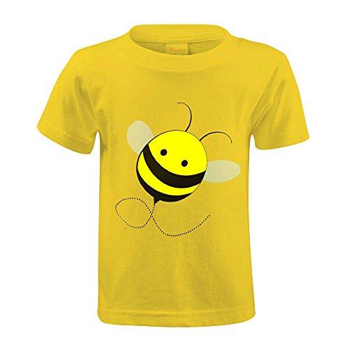 Bravefiller Custom Bumble Bee Little Boys and Girls T Shirt Yellow