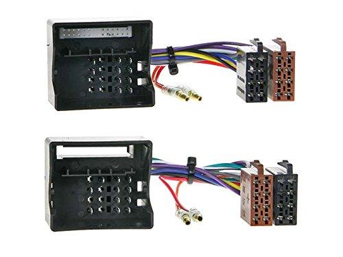 Mercedes C-Klasse W203 04-07 1-DIN Autoradio Einbauset in original Plug/&Play Qualit/ät mit Antennenadapter Radioanschlusskabel Zubeh/ör und Radioblende//Einbaurahmen schwarz