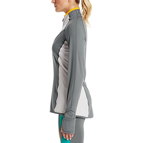 Mission Women's VaporActive Stamina Lightweight 1/4 Zip Long Sleeve Shirt, Quiet Shade/Lunar Rock, Large by Mission (Image #4)