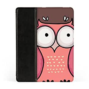 Cute Cartoon Hand Draw Owl Pink and Pear Premium Faux PU Leather Case, Protective Hard Cover Flip Case for Apple? iPad 2 / 3 and iPad 4 by UltraCases + FREE Crystal Clear Screen Protector