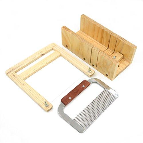 Angelakerry 1pcs Soap Mold Wood Adjustable Cutter Loaf Bar Handmade Bottom lid slicer Process Kit by AngelakerryAmazon