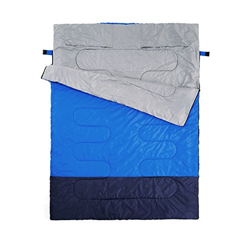 Dudodoo Outdoor Double Sleeping Bag - Spring and Autumn Selection - Camping Equipment for Lovers - Comfort - Skin-Friendly - Detachable Design - 2.1kg by Dudodoo