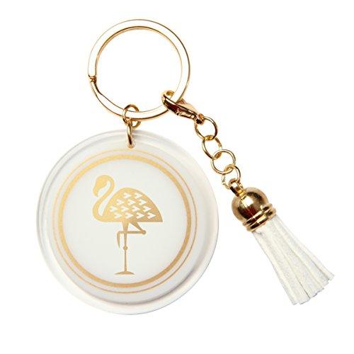 Karma Gifts Gold Rush Key Chain, Flamingo ()